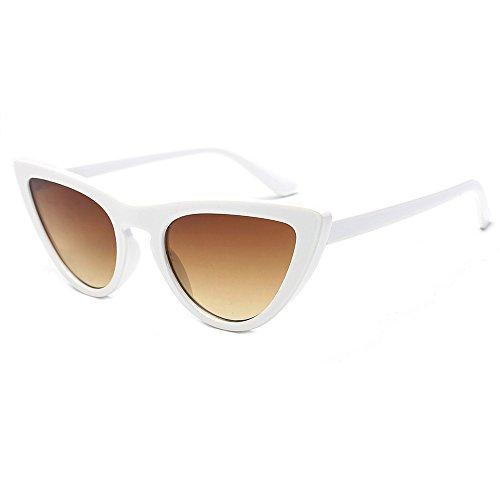 Damen Mode Sonnenbrillen Retro Cateye Shades Sonnenbrille Plastik Rahmen Designer Sonnenbrillen (A)