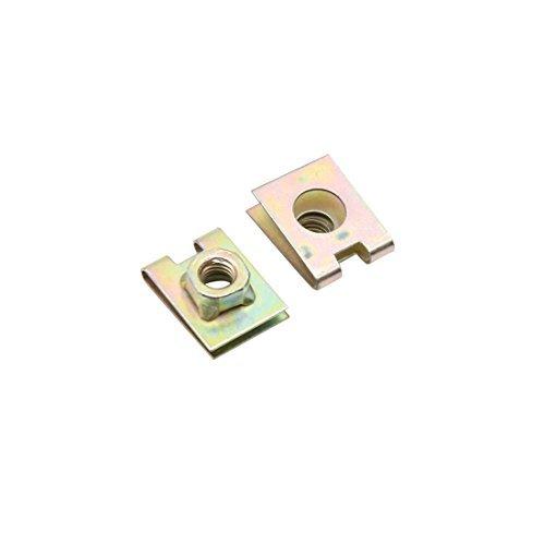 Preisvergleich Produktbild DealMux 20pcs 6mm Hole Spring Metal Plate U-Type Clips Speed Nuts for Car Panel Fender