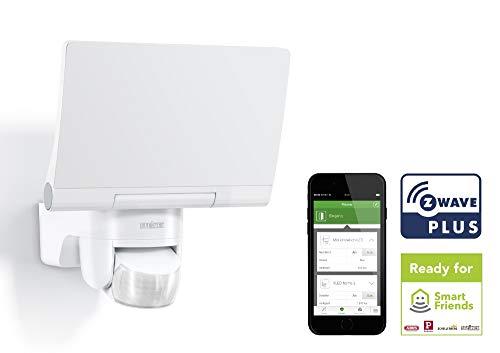 Steinel Smart Home LED Außenstrahler XLED Home 2 Z-Wave weiß, Smart Friends-Hausautomation, Flutlicht voll schwenkbar Home Automation Z-wave