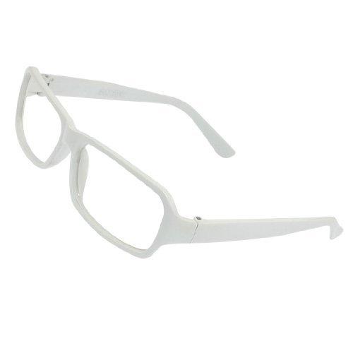 Weiß Kunststoff Voll Felgen Eyewearing Brillengestell für Frauen