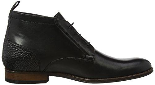 Bertie Herren Magneto Chukka Boots Schwarz (Black Leather)