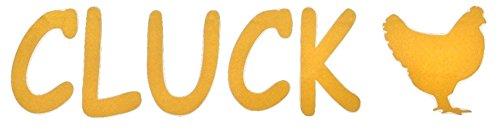 Oro pollo gallina Chiocciare parete vinile adesivo auto spedizione gratuita nel Regno Unito