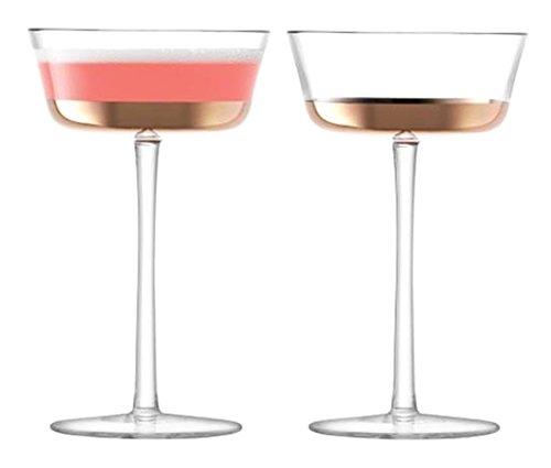 LSA International LSA 2er Set, mit Roségold-Champagnerschale 1250-04-358 g