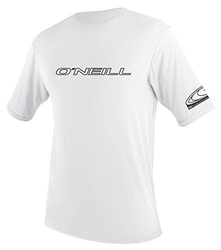 Lycra-hemd (O'Neill Wetsuits Herren Basic Skins S/S Rash Tee Vest, White, S)