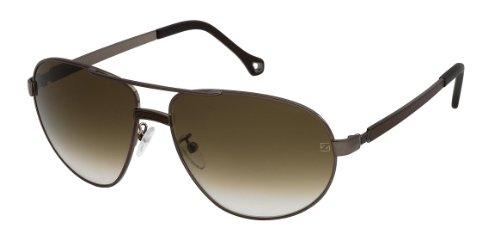 Zegna Ermenegildo Sonnenbrille (Ermenegildo Zegna Sonnenbrille SZ3293 Shiny Brown)
