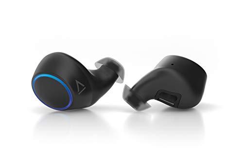 Creative Outlier Air True Wireless schweißbeständiger Kopfhörer mit Bluetooth 5.0, aptx/Acc, Graphenmembran, 30h Akkulaufzeit mit 10h pro Ladung, True Wireless Stereo-Anrufe, Siri/Google Assistant -