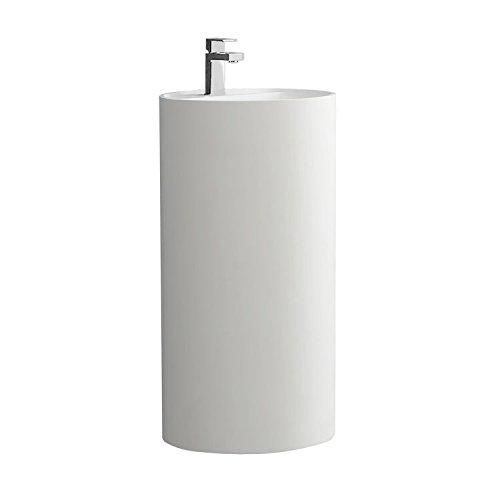 STONEART Standwaschbecken LZ513 weiß/45x45cm/matt