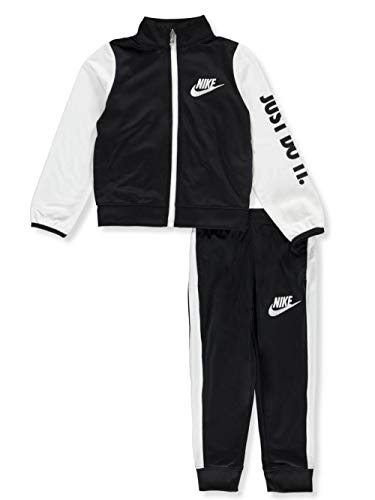 NIKE Boy's Futura Tricot Jacket and Pants Set (QW-2W9B-ZURM, 6) - Activewear Nike