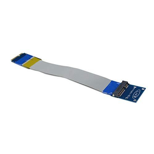 IanqAzwibvd-UK Mini PCI-E zu Mini PCI-E Verlängerungskabel Kabelloses Netzwerkkarten-Verlängerungskabel Silber & blau