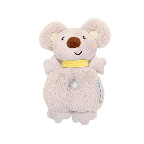 Romote 1PC Baby-Geklapper Bell-kreative Karikatur-Koala-Form-Baby-Hand Klapper Glocke Spaziergänger hängende Spielzeug-Baby-Krippe Stofftier Plüschtier