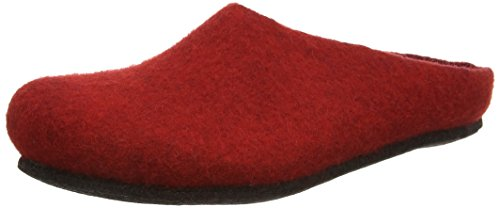 MagicFelt An 709, Chaussons Mules Mixte Adulte Rouge (rubin 4823)