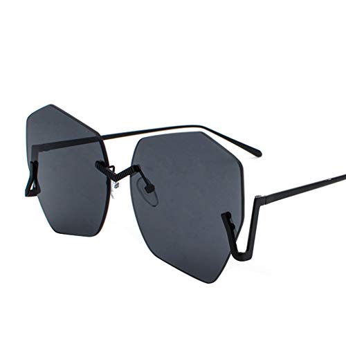 Igemy Rahmenlos Polygon Brille Vintage Harajuku-Stil Gläser (D)