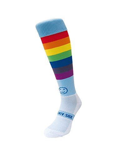 Reifen Knie Länge Rugby Hockey Und Fußball Sport-Socken Regenbogen-Krieger Junger Erwachsener Schuh-Größe 35-40 ()