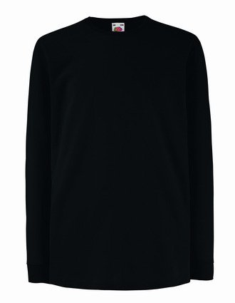 Fruit of the Loom Kids Long Sleeve Value T-shirt Black - 9/11 [Apparel]