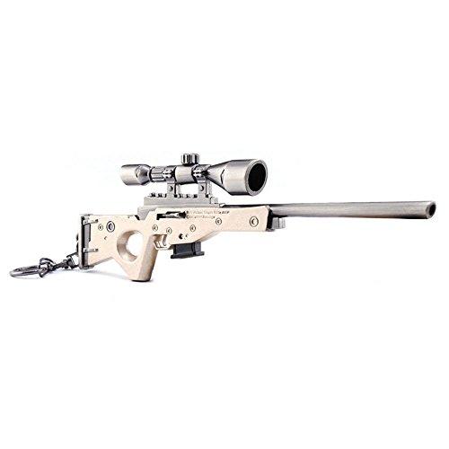Juegos Metal 1/6 AWP Modelo Acción Figura Sniper Rifle Gun Modelo Arte Juguetes Colección Llavero Regalo