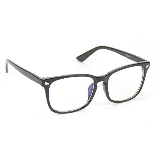 Cyxus Blaulichtfilter Computer-Gläser zum Blockieren von UV-Kopfschmerz [Verringerung der Augenbelastung] Vintage Brillen, Unisex Unisex (Herren/Damen) (Matt schwarzer)