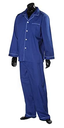 Lloyd Attree & Smith - Pyjama 100% coton à manches longues - bleu marine (M)