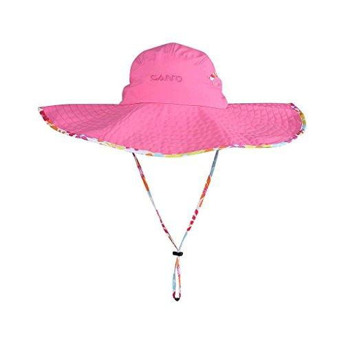 Blume Sonnenhut mit breiten Rand Anti UV Hüte Strand spielen Reisen Caps LUFA (- Rand-spiel)