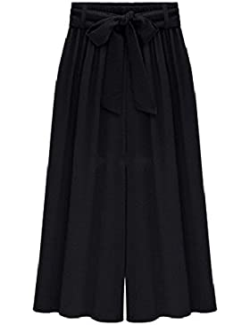 AnyuA Tallas Grandes Pantalones Capri Pirata De Vestir para Mujer
