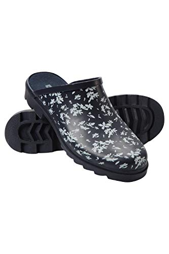 Mountain Warehouse Womens Slip On Rubber Printed Wellies - Waterproof Ladies Rain Boots, EVA Footbed Wellington Shoes, Easy Clean Wellies - for Walking, Outdoor