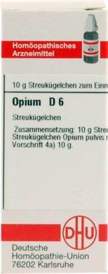 DHU Opium D6, 10 g Globuli