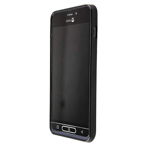 caseroxx TPU-Hülle/TPU-Hülle + Bildschirmschutzfolie für Doro 8035, Tasche (TPU-Hülle, schwarz)