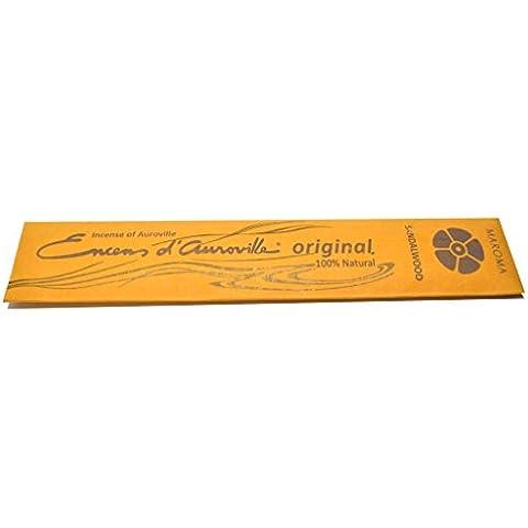 Bastoncini di incenso, sandalo, Maroma Encens D'Auroville aromaterapia naturale ecologico, commercio equo e solidale