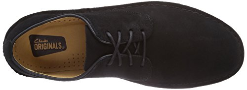 Clarks Originals Desert London, Derby Homme Noir (Black Suede)