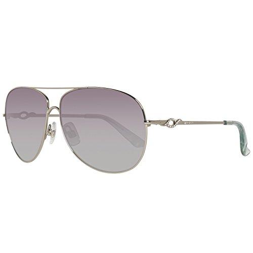 Swarovski Damen SK0100-6116F Sonnenbrille, Silber (Shiny Palladium), 61