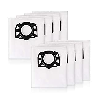 AIEVE 8 Stück Staubbeutel Filterbeutel Filtertüten Staubsaugerbeutel Filter Set Ersatz Ersatzteil Zubehör Kit aus Non-Woven für Kärcher WD4, WD5, MV4, MV5, MV6 Staubsauger