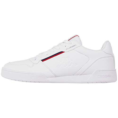 Kappa Marabu, Zapatillas Unisex Adulto, Blanco (White/Red 1020), 45 EU