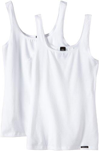 Skiny Damen Advantage Cotton Tank Top 2er Pack , Weiß, 42(XL) EU