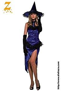 Unbekannt Aptafêtes - cs99815 - Bruja tamaño M/L. Este Disfraz Incluye Vestido y un Gorro - púrpura