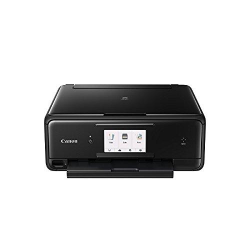Canon Pixma TS8050 Tinten-Multifunktionsgerät (WLAN / NFC, Drucken, Scannen, Kopieren, Print App, Duplex, 6 separate Tintentanks) schwarz (Us-karte Drucken)
