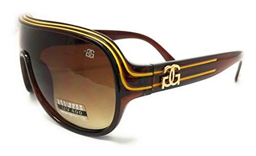 GG Eyewear Women es Designer Sonnenbrillen-Full UV400 Schutz-Women Fashion Sonnenbrillen-Modell: GGucineri Space With FREE Pouch and Case MJ018-Brown