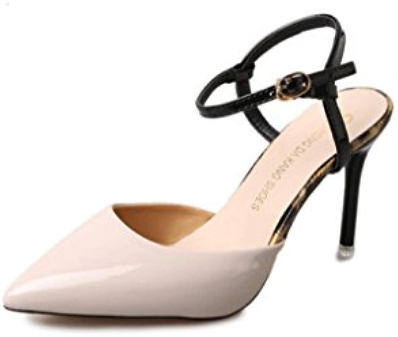 Sandalias de Verano Versión Coreana Acentuado Delgado de Tacón Alto Pequeños Frescos Zapatos de Tacón Alto Zapatos...