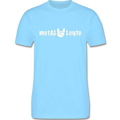 Music - Metal Leute - L190 Herren Premium Rundhals T-Shirt Hellblau