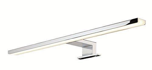 GedoTec® LED Spiegelleuchte Anbauleuchte Bad-Leuchte AALTO Aluminium Stahl chrom poliert | Länge 300 mm | Badleuchte Energieeffizienz A++ | warmweiß 3000 K | IP44 geprüft | 13W 230V | Markenqualität für Ihren Wohnbereich