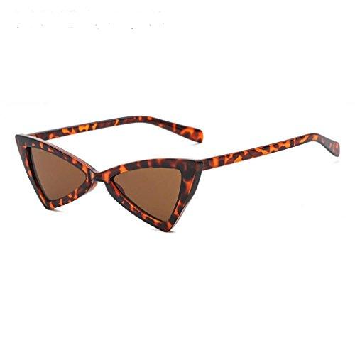 Sonnenbrille EUZeo Women Vintage MIni Triangle Cateye Frame Shades Frame UV Glasses Sunglasses (I)