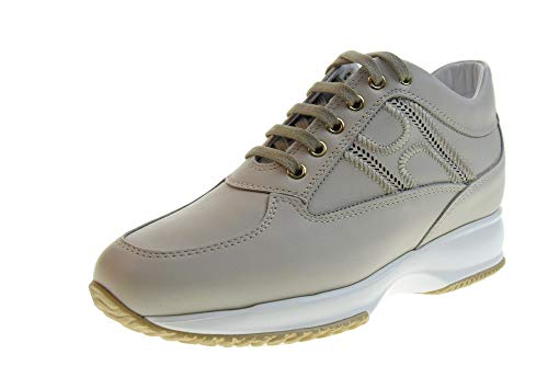 Hogan Scarpe Donna Sneakers Basse HXW00N0BE10IWEB002 Interactive LAV.H. Taglia 38 Ghiaccio