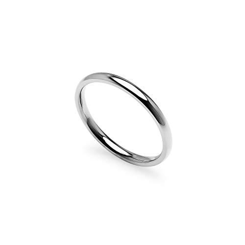 Gotta have it–impilabile fedi | 2mm anelli in acciaio inossidabile, tono tono giallo, rosa & nero finitura blu e acciaio inossidabile, 17,5, colore: silver tone, cod. ghi-1111-sl8.5