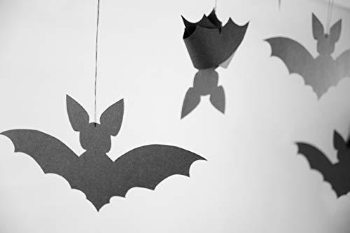Fledermäuse, Halloween Deko, Anhänger, schwarz, schlafend, deutsche Handarbeit