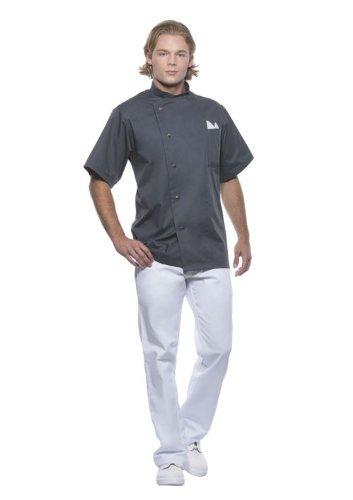 Pflegeleichte Kurzarm Kochjacke Gustav in vielen Farben für Bistro + Gastronomie + Küche + Bäckerei, Farbe:Anthracite;Größe:62