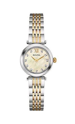Bulova montre à quartz pour femme en acier inoxydable (modèle: 98p154)