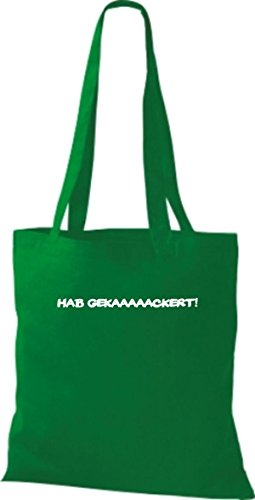 Shirtstown, Borsa tote donna Verde (kelly)