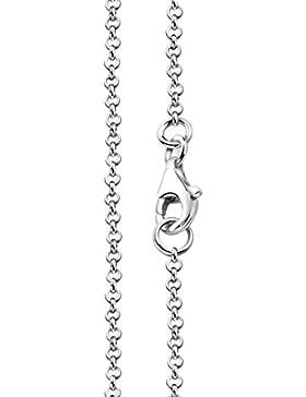 Erbskette Silberkette 1,7mm von Nenalina mit Karabinerverschluss   925 Sterling Silber   Damen Collier Halskette...