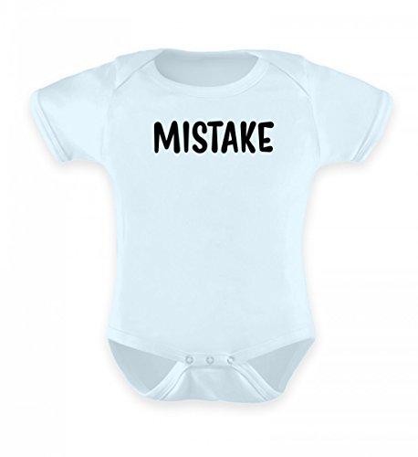 SwayShirt Hochwertiges Baby Body - Mistake Fehler - Lustiges Babybody Strampler Spruch Geburt Geschenk Für Eltern mit Humor