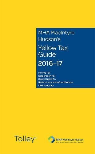 MHA MacIntyre Hudson's Yellow Tax Guide 2016-17