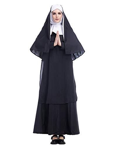 GEIUEIMAN Halloween Kostüm Erwachsene Drama Jungfrau Maria Jesus Vater Pate Missionary Halloween Cosplay Parte (Jesus Maria Und Halloween-kostüme)