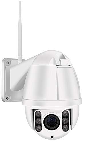 1080P Full HD Outdoor Wifi Überwachungskamera, Outdoor PTZ IP Kamera, 4X Optischer Zoom, Autofokus, IP66 Wetterfest, 60 Meter Nachtsicht, Externer Kartenslot bis 128GB Micro SD Karte, S2A, EU, Weiß
